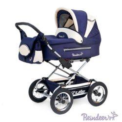 Детская коляска Reindeer Style 2 в 1 с конвертом (темно-синий)