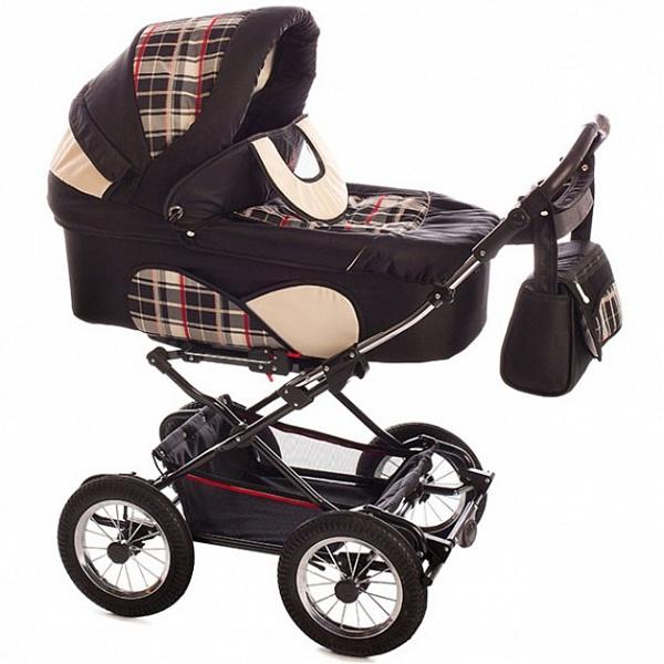 Детская коляска Reindeer Mega 2 в 1 (темно-коричневый)