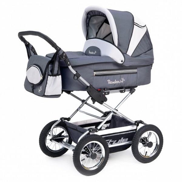 Детская коляска Reindeer Style 3 в 1 (темно-серый)