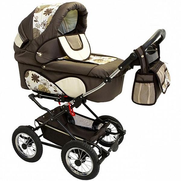 Детская коляска Reindeer Mega 2 в 1 (хаки)