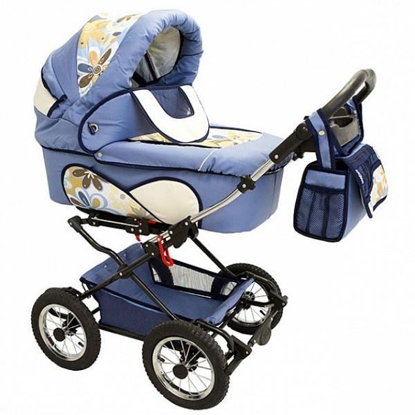 Детская коляска Reindeer Mega 2 в 1 (голубой)