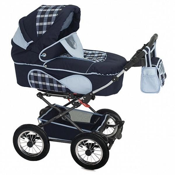 Детская коляска Reindeer Mega 2 в 1 (синий с рисунком)