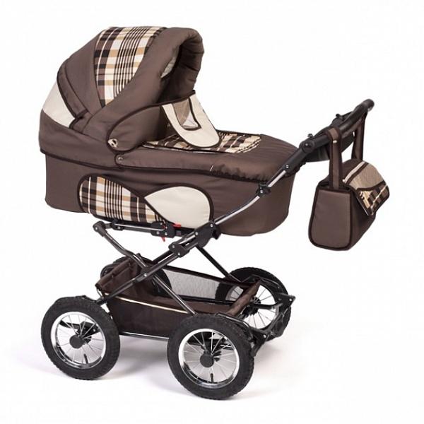 Детская коляска Reindeer Mega 3 в 1 (коричневый)