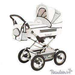 Детская коляска Reindeer Style 3 в 1 с конвертом (белый)