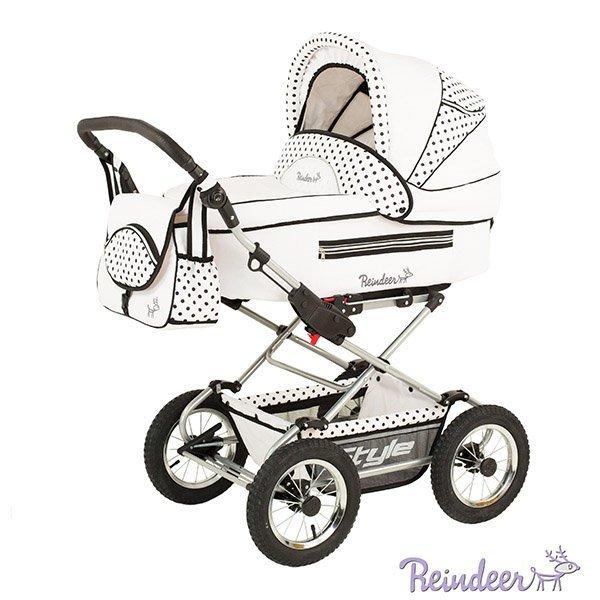 Детская коляска Reindeer Style 3 в 1 (белый)