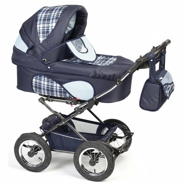 Детская коляска Reindeer Mega 3 в 1 (синий)
