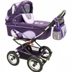 Детская коляска Reindeer Mega 3 в 1 (фиолетовый)