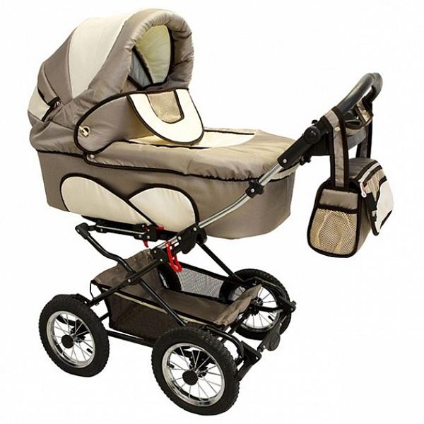 Детская коляска Reindeer Mega 3 в 1 (светло-коричневый)