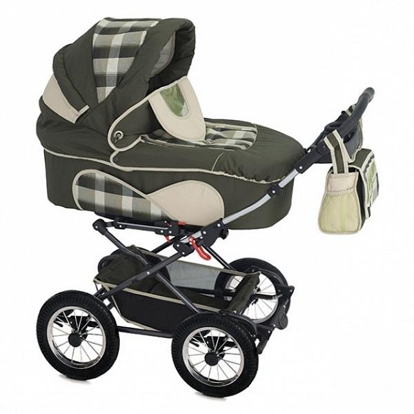 Детская коляска Reindeer Mega 3 в 1 (зеленый)
