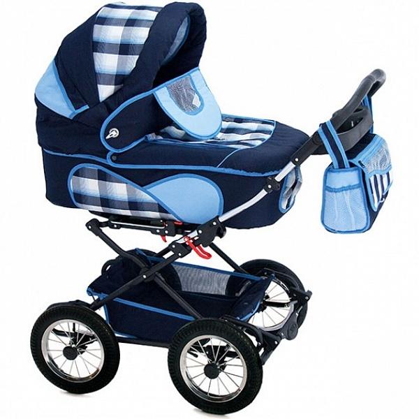 Детская коляска Reindeer Mega 3 в 1 (темно-синий/голубой)
