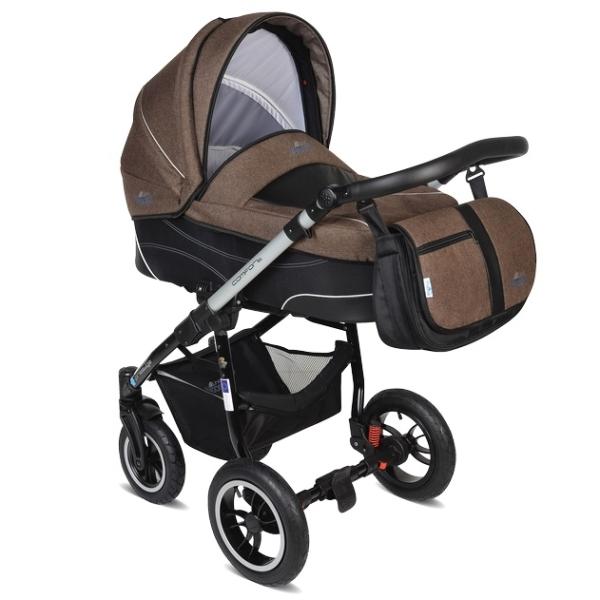 Детская коляска Noordline Beatrice Alu 2 в 1 (коричневый)