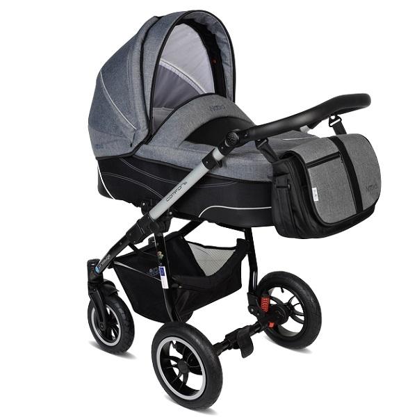 Детская коляска Noordline Beatrice ALU 3 в 1 (темно-серый)