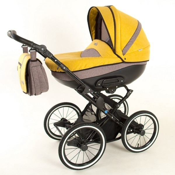 Детская коляска Noordline Olivia Classic 2 в 1 (желтый)