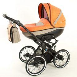 Детская коляска Noordline Olivia Classic 2 в 1 (оранжевый/бежевый)