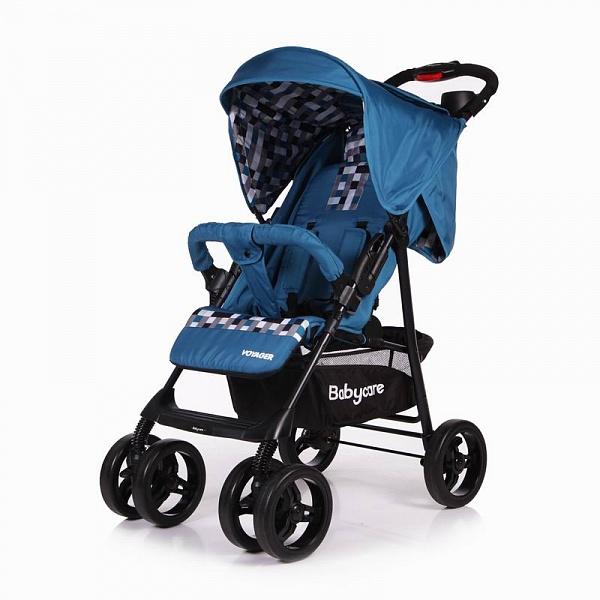 Детская прогулочная коляска Baby Care Voyager (синий)