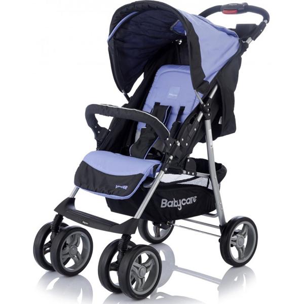 Детская прогулочная коляска Baby Care Voyager (черный/синий)