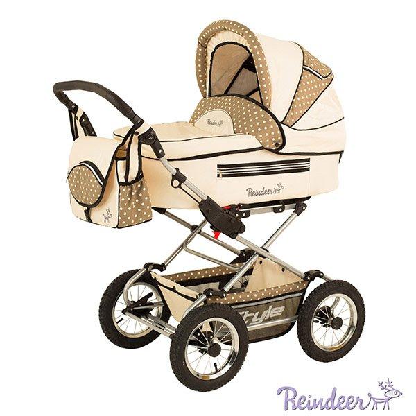 Детская коляска Reindeer Style 3 в 1 с конвертом (желтый)