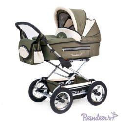 Детская коляска Reindeer Style 3 в 1 с конвертом (хаки)