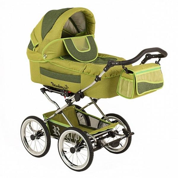Детская коляска Reindeer Retro 2 в 1 (зеленый)