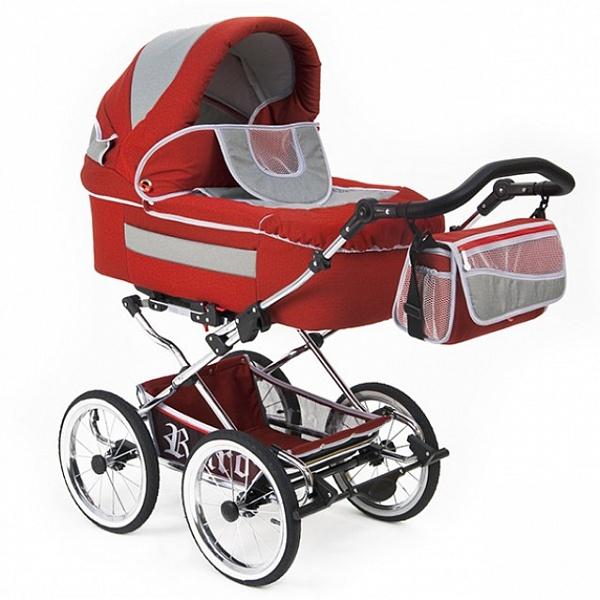 Детская коляска Reindeer Retro 2 в 1 (красный)