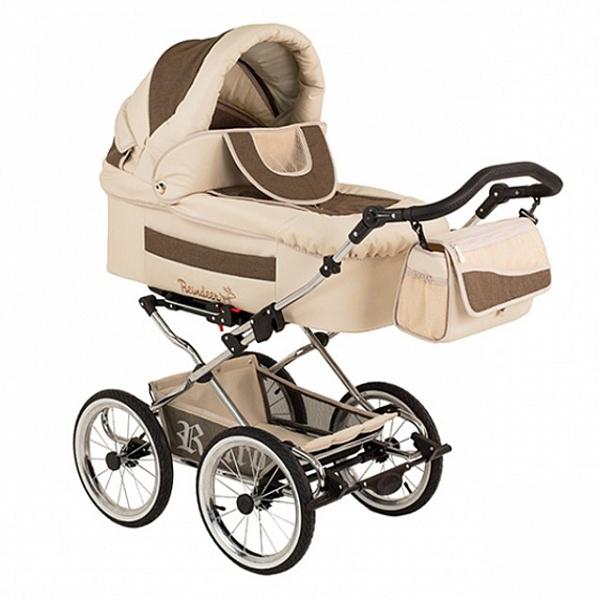 Детская коляска Reindeer Retro 3 в 1 (бежевый)