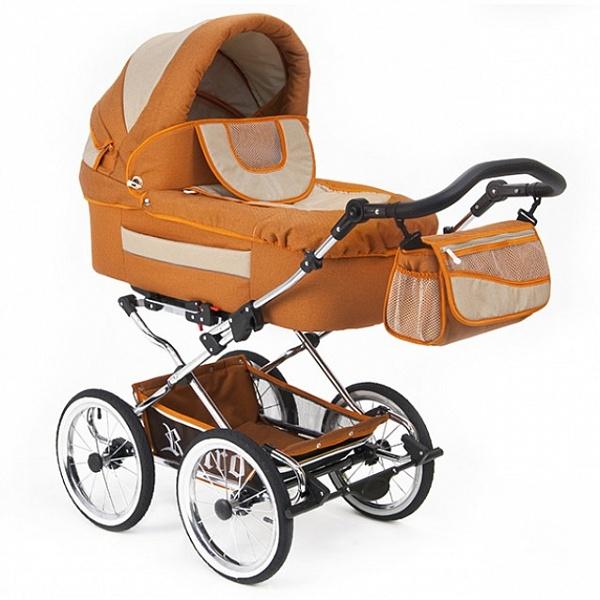 Детская коляска Reindeer Retro 3 в 1 (оранжевый)