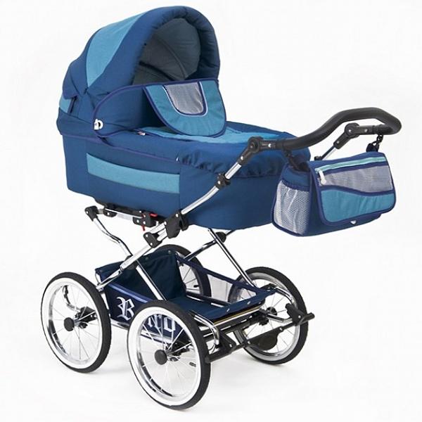 Детская коляска Reindeer Retro 3 в 1 (синий)