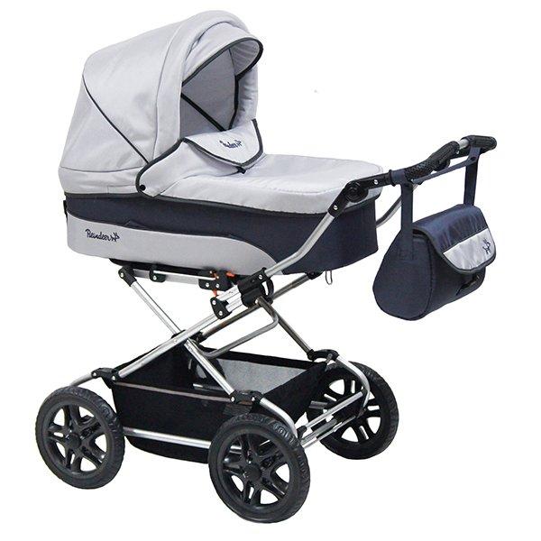 Детская коляска Reindeer Nova 3 в 1 (белый/синий)