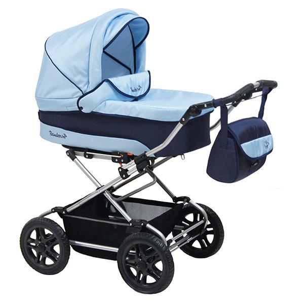 Детская коляска Reindeer Nova 3 в 1 (синий/голубой)