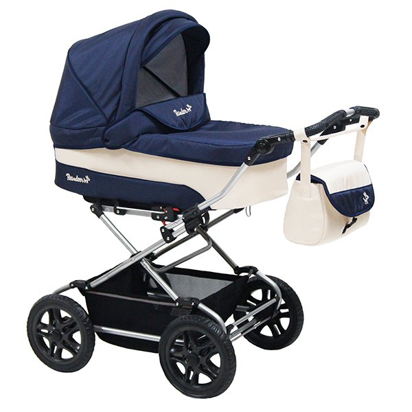 Детская коляска Reindeer Nova 3 в 1 (темно-синий/белый)