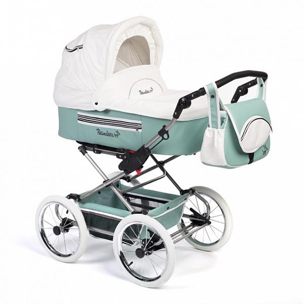 Детская коляска Reindeer Style Leather Collection 3 в 1 (зеленый)