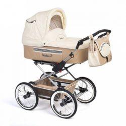 Детская коляска Reindeer Style Leather Collection 3 в 1 с конвертом (бежевый)