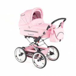 Детская коляска Reindeer Style Leather Collection 3 в 1 с конвертом (розовый)