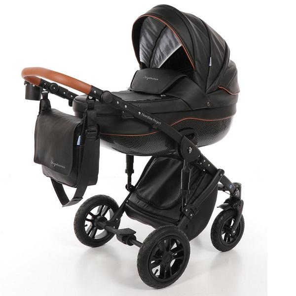 Детская коляска Noordline Stephania 2 в 1 (черный)