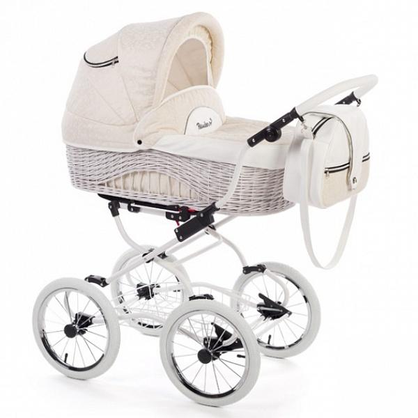 Детская коляска Reindeer Prestige Wiklina 3 в 1 с конвертом (бежевый)
