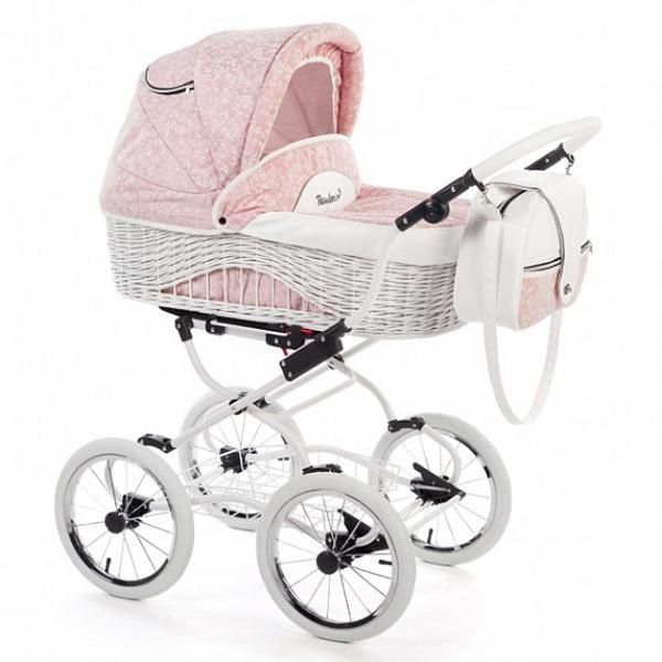 Детская коляска Reindeer Prestige Wiklina 3 в 1 с конвертом (розовый)