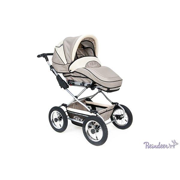 Детская коляска Reindeer Style Len 2 в 1 с конвертом (серый/белый)