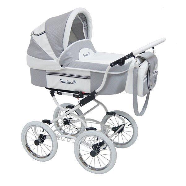 Детская коляска Reindeer Prestige Lily 3 в 1 с конвертом (серый)