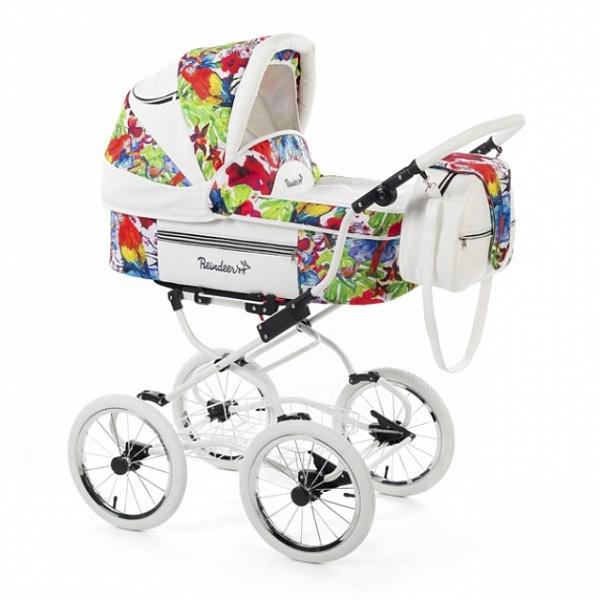 Детская коляска Reindeer Prestige Lily 2 в 1 с конвертом, эко-кожа (разноцветный)