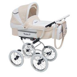 Детская коляска Reindeer Prestige Lily 2 в 1 с конвертом, эко-кожа (бежевый)
