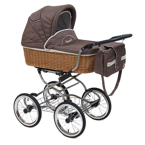 Детская коляска Reindeer Prestige Wiklina Eco-line 3 в 1 с конвертом (коричневый)