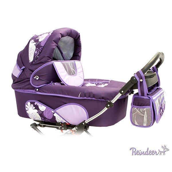 Детская коляска для двойни Reindeer Twin 2 в 1 (фиолетовый)
