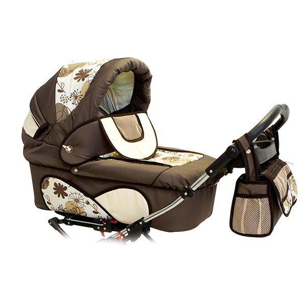Детская коляска для двойни Reindeer Twin 2 в 1 (темно-коричневый)
