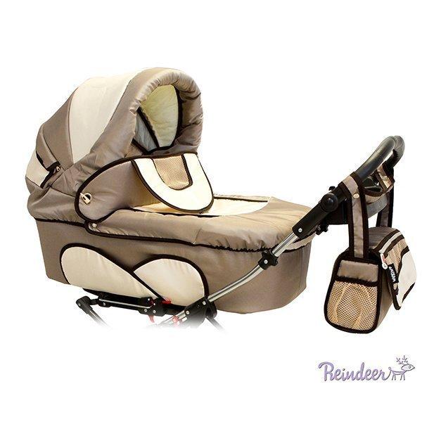 Детская коляска для двойни Reindeer Twin 2 в 1 (коричневый)