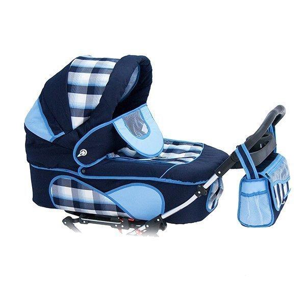 Детская коляска для двойни Reindeer Twin 2 в 1 (голубой)