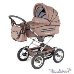 Детская коляска Reindeer Style Len 3 в 1 с конвертом (коричневый)