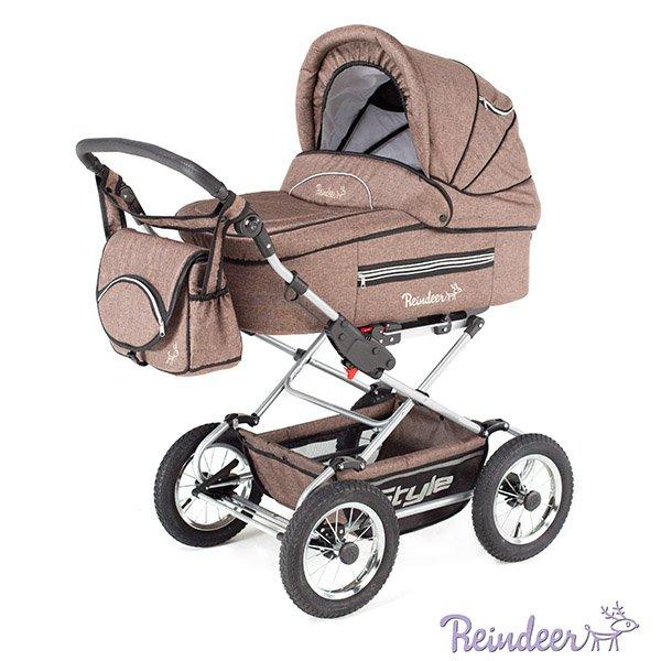 Детская коляска Reindeer Style Len 3 в 1 (коричневый)