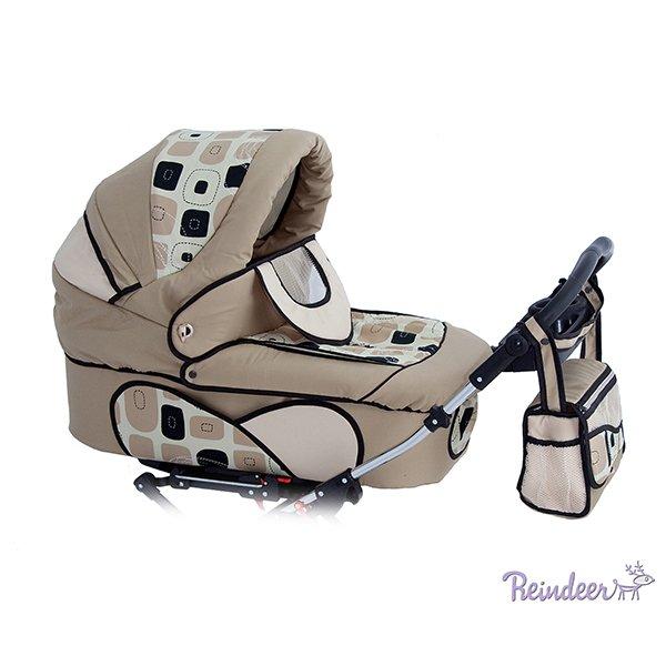 Детская коляска для двойни Reindeer Twin 2 в 1 (бежевый)