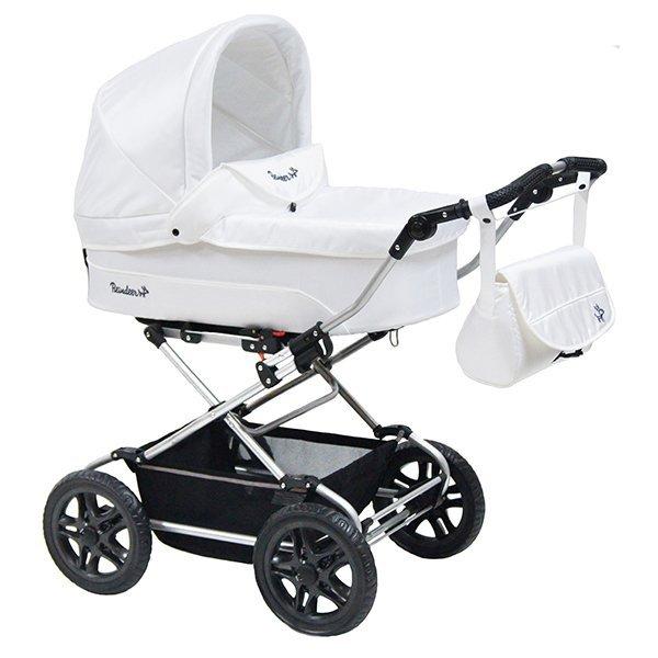 Детская коляска Reindeer Nova Люлька и автокресло (белый)