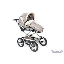 Детская коляска Reindeer Style Len 3 в 1 с конвертом (серый/белый)